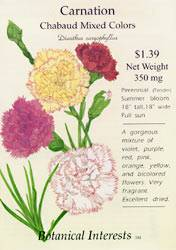 Carnation Chabaud Mixed Colors Seeds