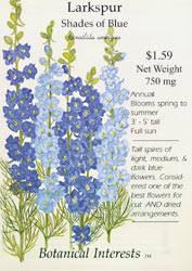 Larkspur Shades of Blue Seeds