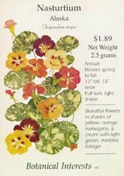 Nasturtium Alaska Seeds