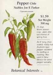 Pepper Chile NuMex Joe E Parker Seeds